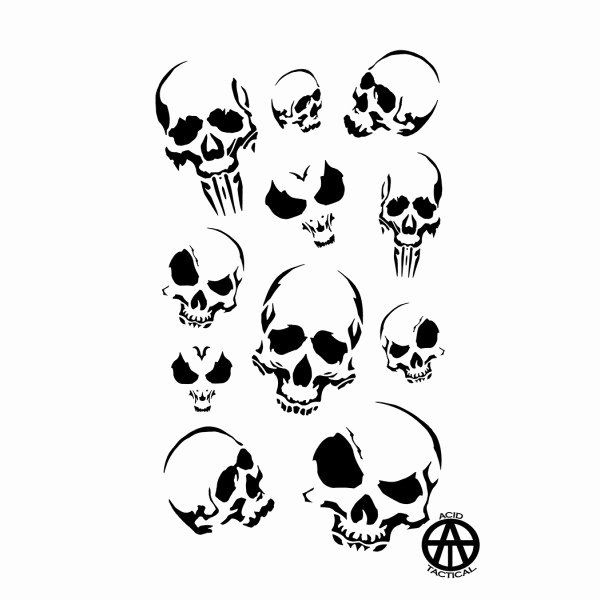 Skull Stencil for Spray Paint Luxury Army Duracoat Camo Stencils 2 Pack Acid Tactical