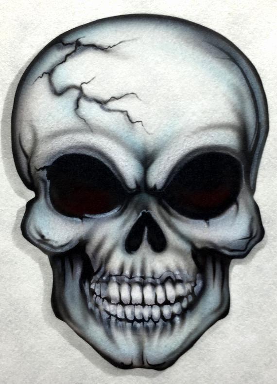 Skull Stencil for Spray Paint New Skull 12 Airbrush Stencil