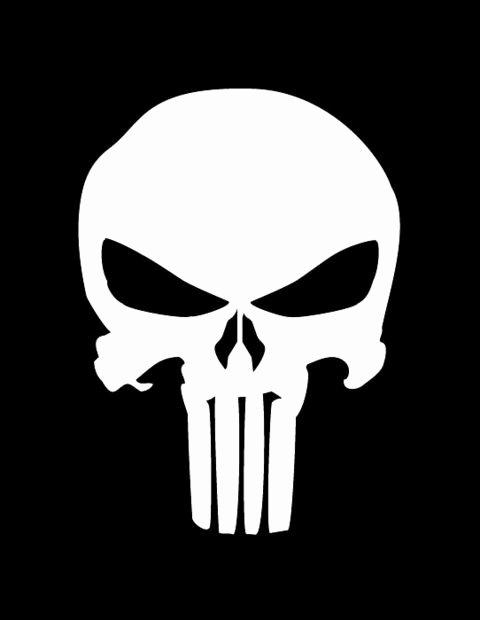 Skull Stencil for Spray Paint Unique Punisher Stencil Stencil island Pieces