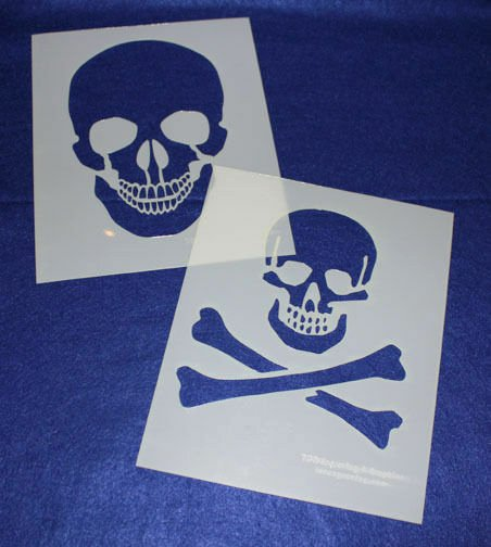 Skull Stencils for Spray Painting Awesome Skull Stencils Painting Crafts Stencil Template 2