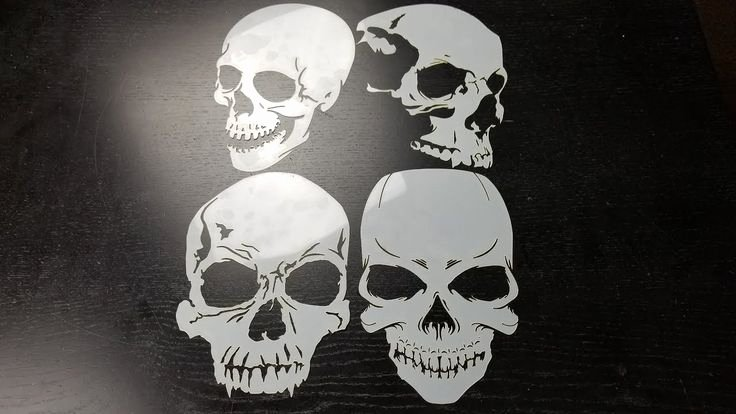 Skull Stencils for Spray Painting Lovely 413 Best Hand Painted Shirts & Airbrush Art Images On