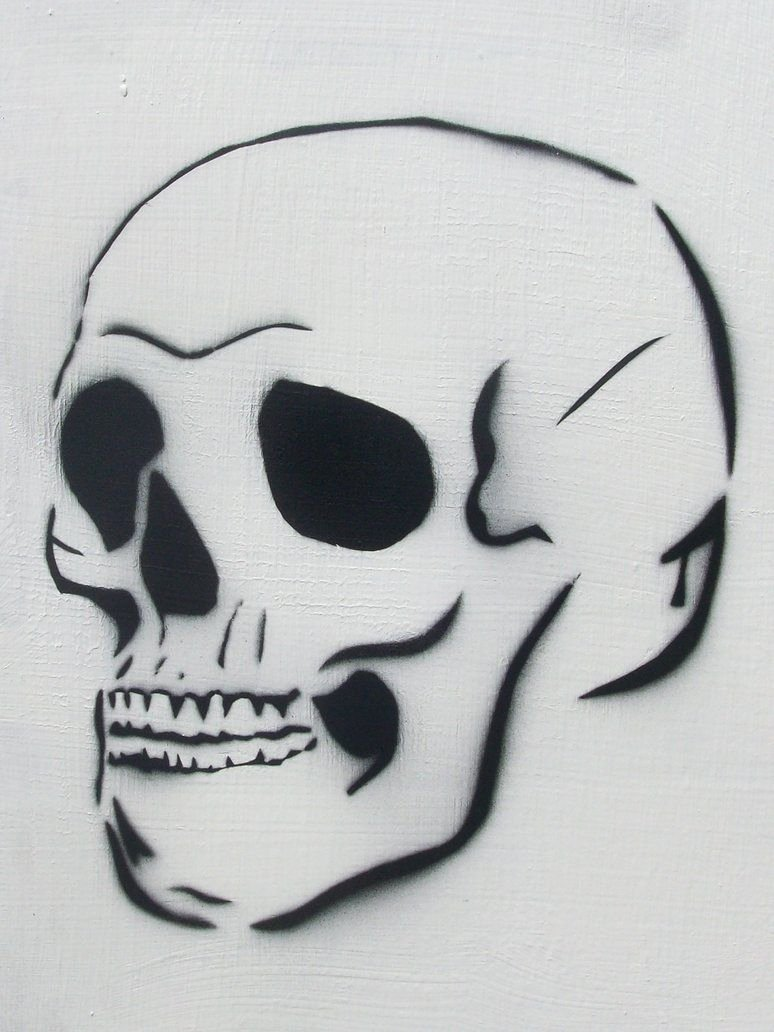 Skull Stencils for Spray Painting Lovely Skull Spraypaint Stencil by thebipolarbear