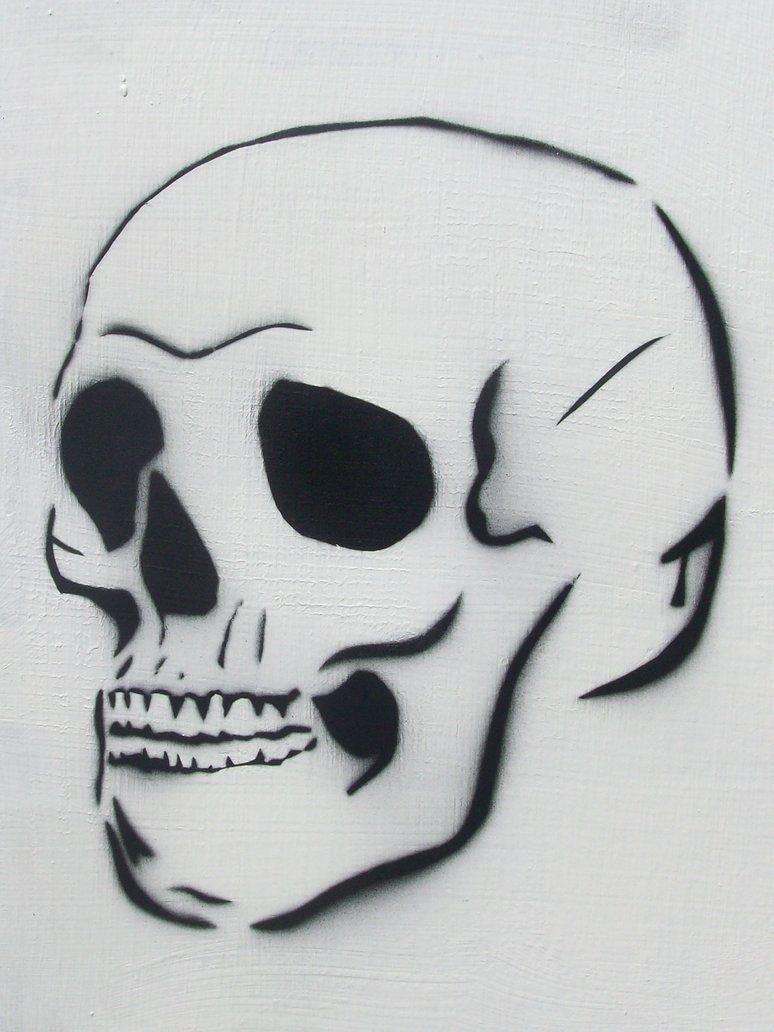 Skull Stencils for Spray Painting Lovely Skull Spraypaint Stencil by thebipolarbear