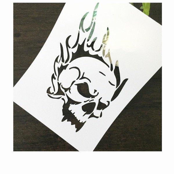 Skull Stencils for Spray Painting New Skull Head Scrapbooking tool Diy Album Masking Spray