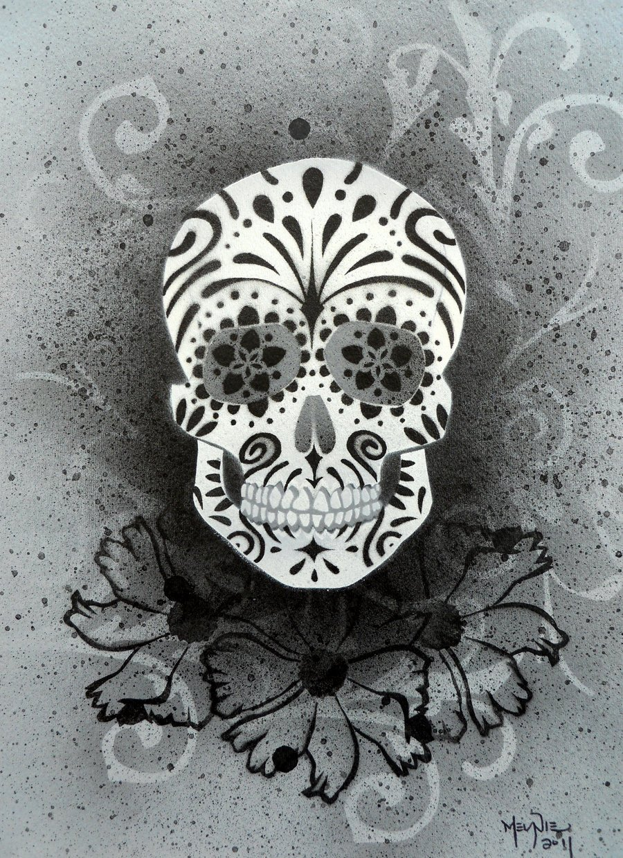 Skull Stencils for Spray Painting Unique Sugar Skull Stencil Print 4 by Darcydoll On Deviantart