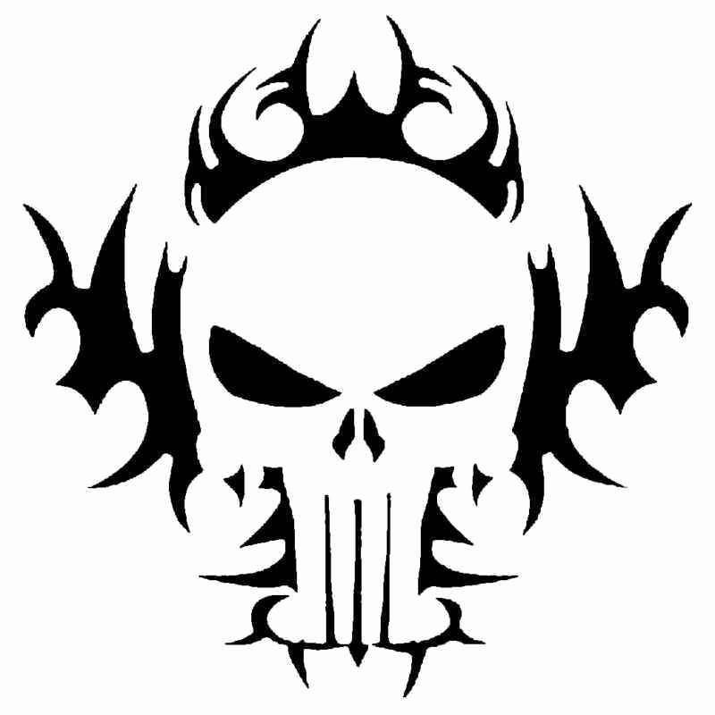 Skull Stencils Free Printable Best Of Tribal Skull Stencil for Airbrush Tattoo Craft Art
