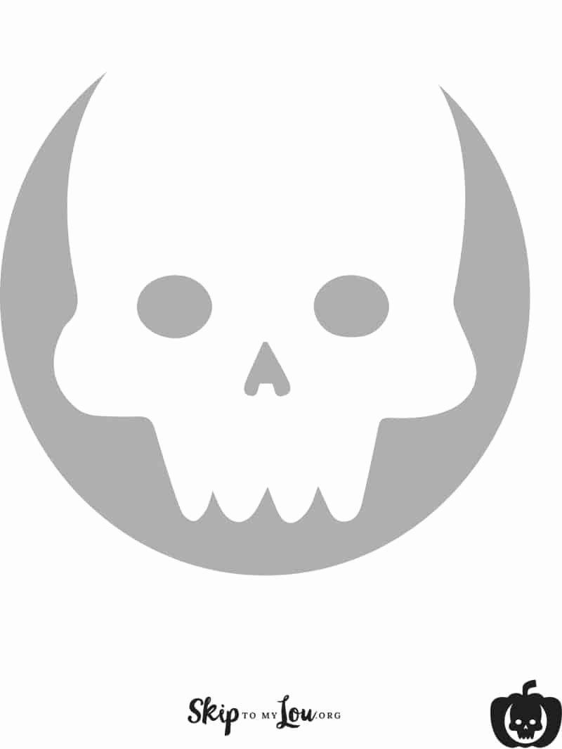 Skull Stencils Free Printable Inspirational Cool Free Printable Pumpkin Carving Stencils Skip to My Lou
