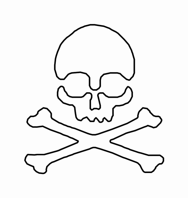 Skull Stencils Free Printable Luxury Skull and Bones Stencil Clipart Best