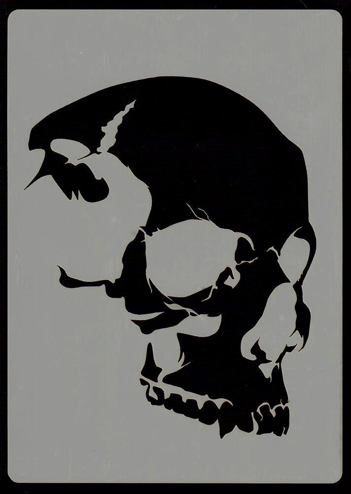 Skull Stencils Free Printable New Everything Airbrush Stencils Skull Head Stencil 6