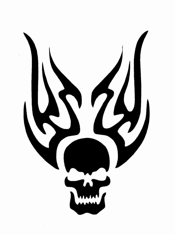 Skull Stencils Free Printable New Flame Stencil Printable
