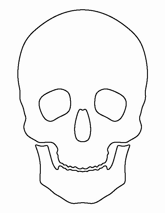 Skull Stencils Free Printable New Skull Pattern Use the Printable Outline for Crafts