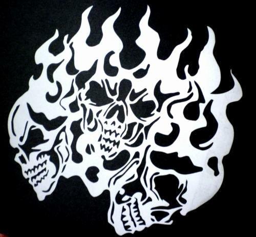 Skull Stencils Free Printable Unique Skull Stencil Airbrushes