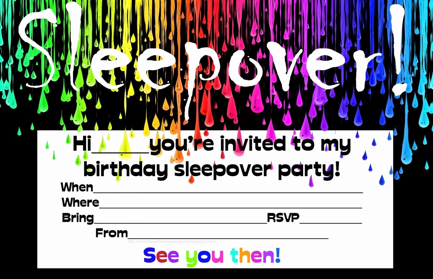 Slumber Party Invitation Template Awesome Free Printable Birthday Invitations for Boys Sleepover