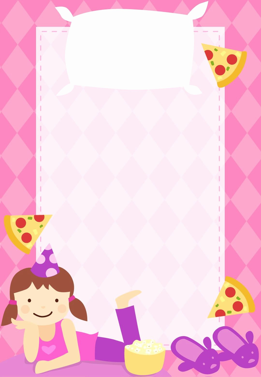 Slumber Party Invitation Template Awesome Free Printable Sleepover Party Invitation Customizable too