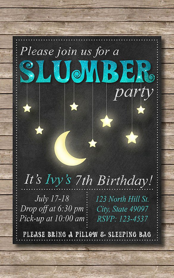 Slumber Party Invitation Template Best Of 13 Creative Slumber Party Invitation Templates Psd Ai