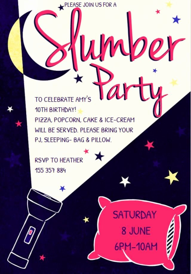Slumber Party Invitation Template Best Of Customize A Free Printable Slumber Party Invitation