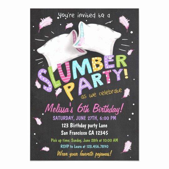 Slumber Party Invitation Template Best Of Slumber Party Pajamas Sleepover Invitation