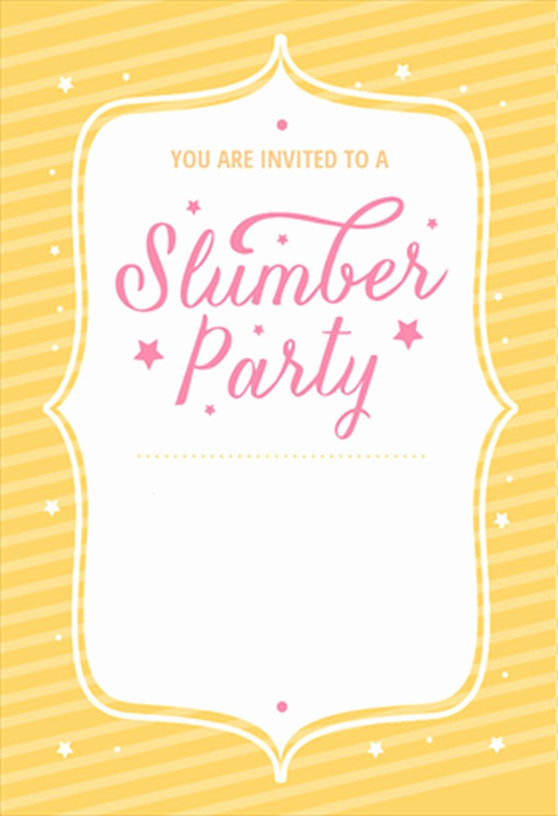 Slumber Party Invitation Template Best Of the Best Of Sleepover Invitations