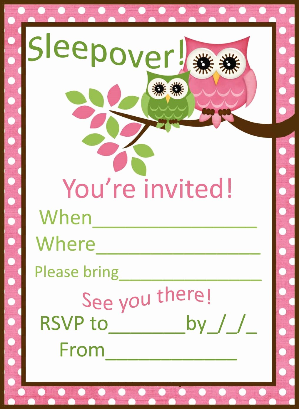 Slumber Party Invitation Template Fresh Sleepover Party Invitations