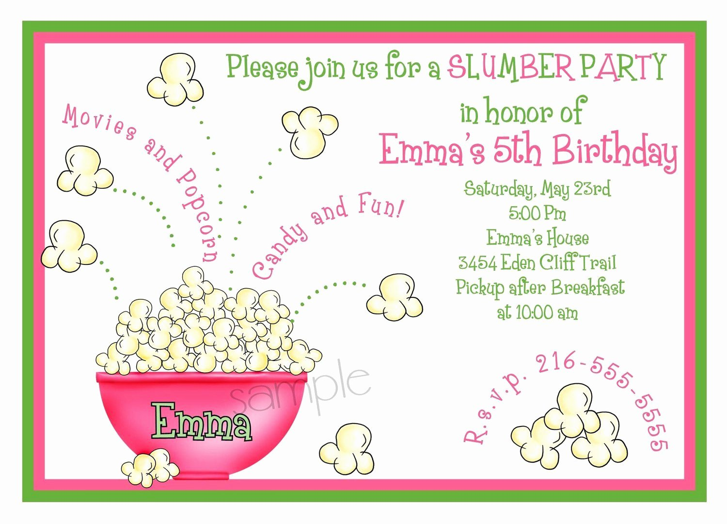 Slumber Party Invitation Template Inspirational Teen Slumber Party Invitations