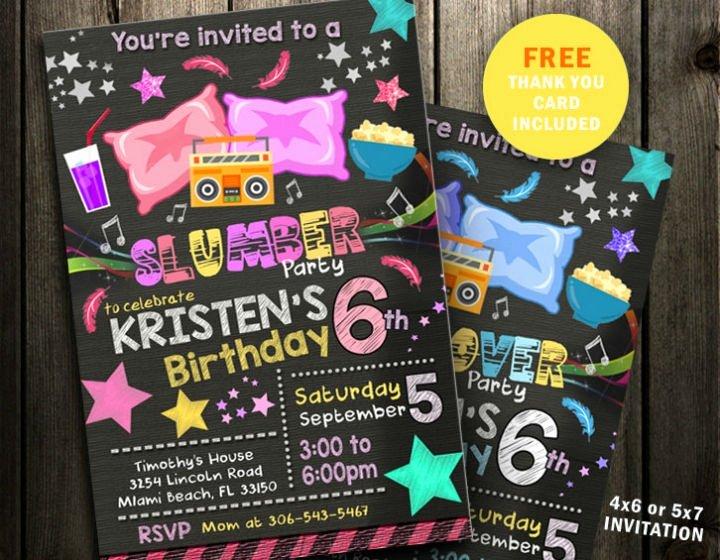 Slumber Party Invitation Template Lovely 15 Creative Sleepover Invitation Designs & Templates