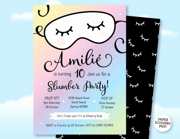 Slumber Party Invitation Template Lovely 15 Creative Sleepover Invitation Designs & Templates