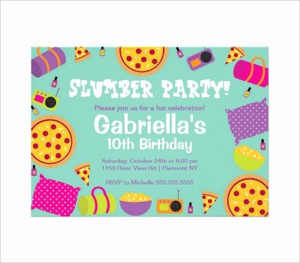 Slumber Party Invitation Template Luxury 13 Creative Slumber Party Invitation Templates Psd Ai