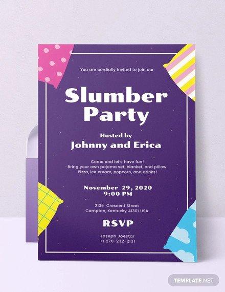 Slumber Party Invitation Template Luxury 36 Elegant Party Invitation Designs Jpg Psd Ai Word