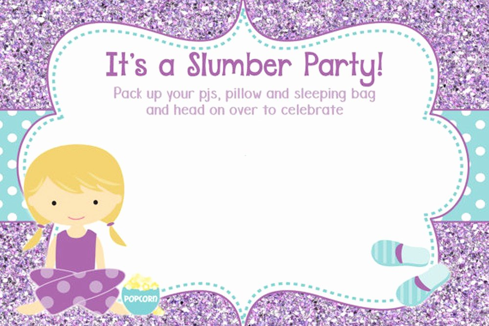 Slumber Party Invitation Template Luxury 50 Beautiful Slumber Party Invitations