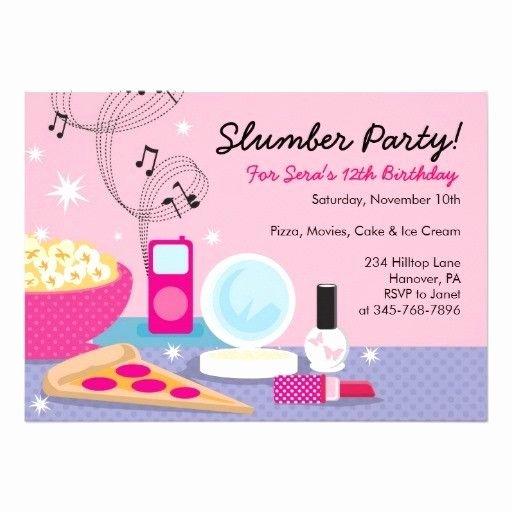 Slumber Party Invitation Template Luxury Sleepover Party Invitations Templates Free