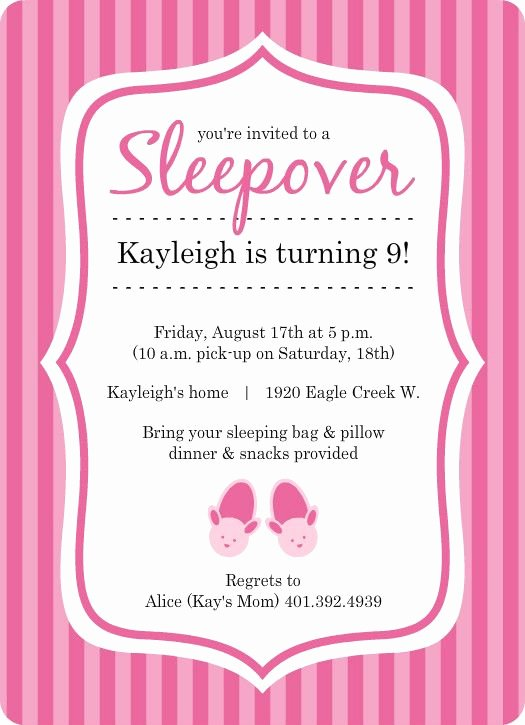 Slumber Party Invitation Template New Free Princess Birthday Slumber Party Invitations Templates