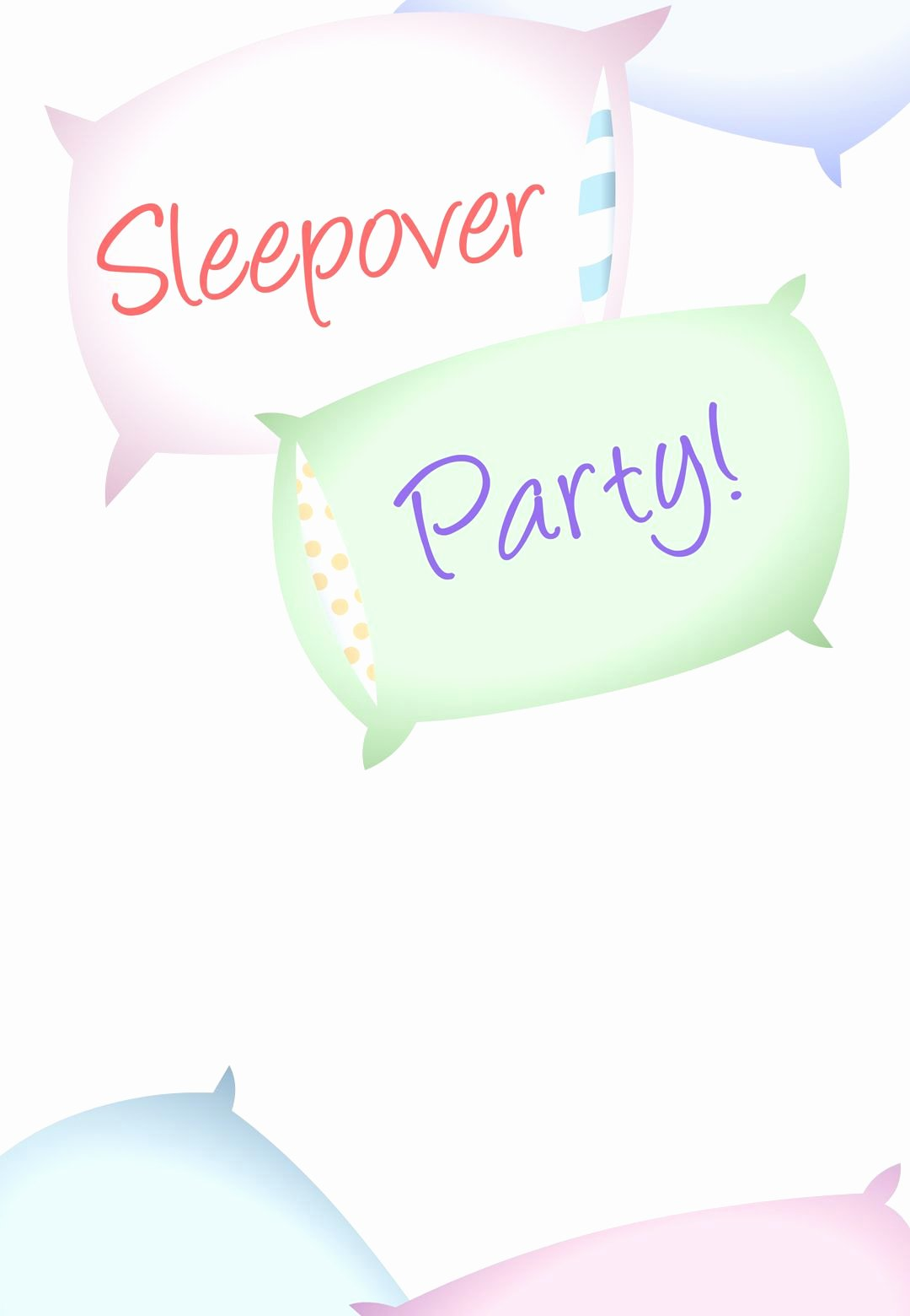 Slumber Party Invitation Template New Free Printable Sleepover Party Invitation