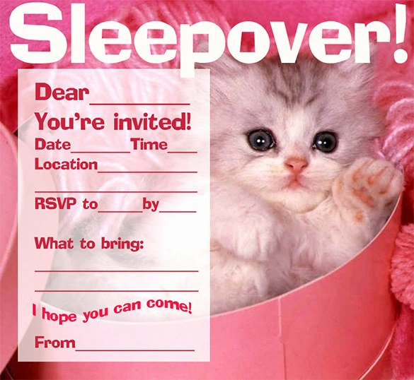 slumber party invitation template