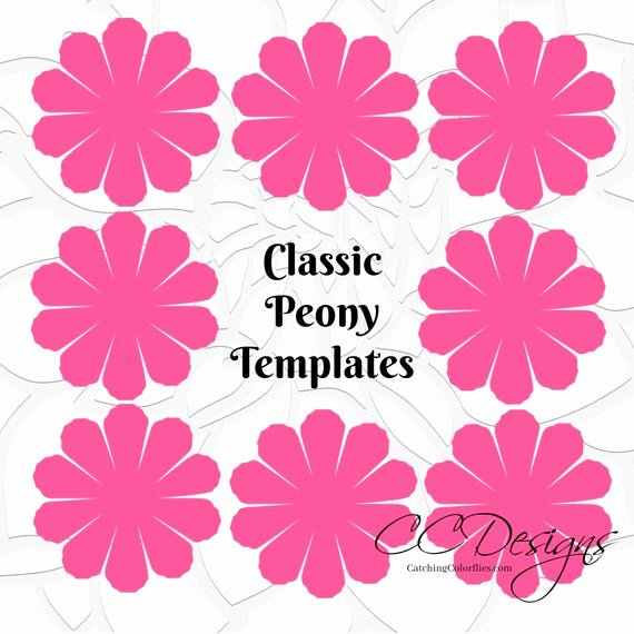Small Paper Flower Templates Best Of Paper Flower Printable Templates Diy Peony Paper Flowers Pdf