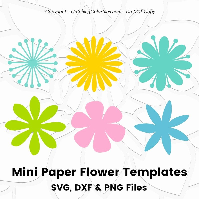Small Paper Flower Templates Best Of Paper Flower Template Svg Small Flower Templates to Use