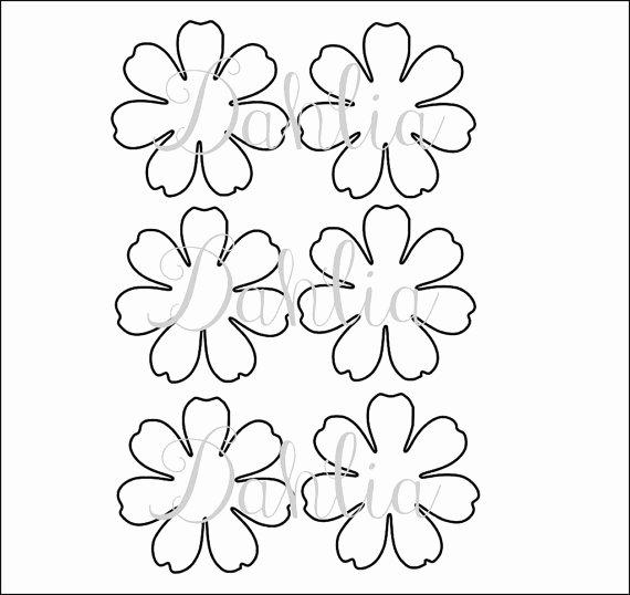 Small Paper Flower Templates Fresh Diy Printable Flower Templates Pdf Petal Templates Diy