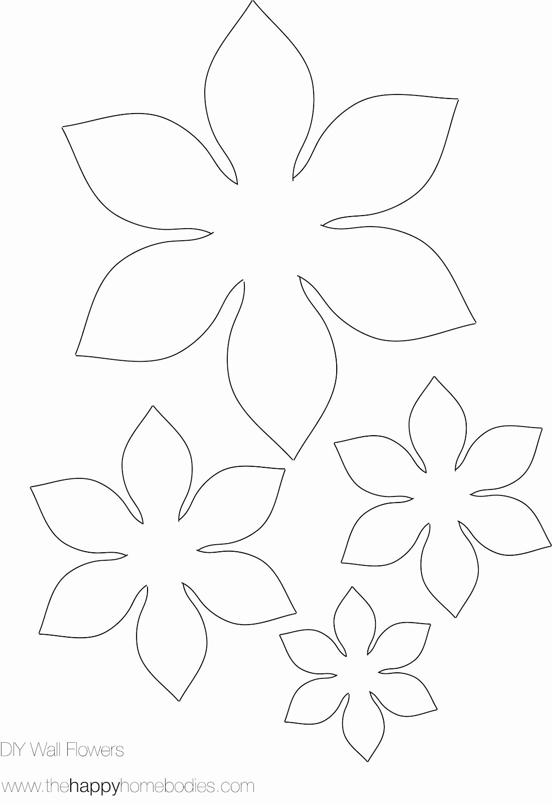 Small Paper Flower Templates Inspirational Flower Template On Pinterest