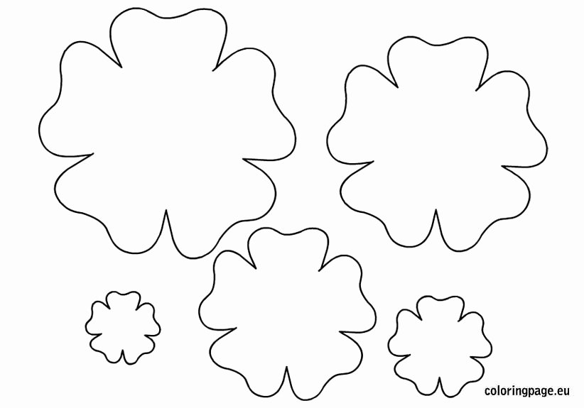 Small Paper Flower Templates Inspirational Flower Template Printable