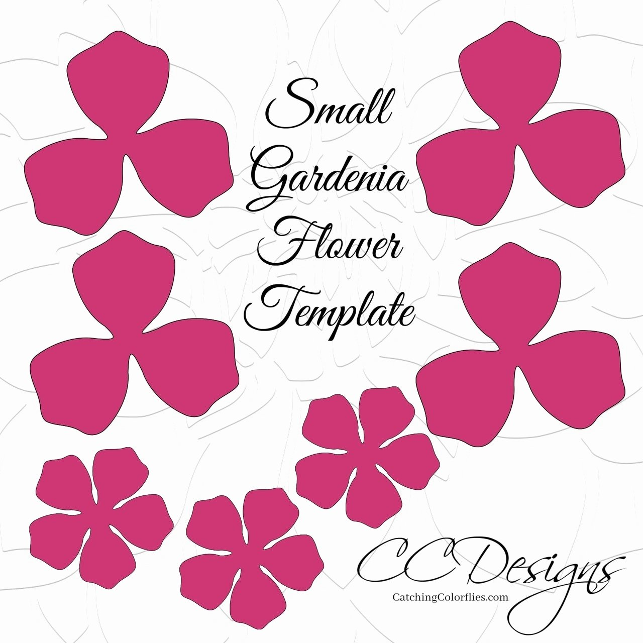Small Paper Flower Templates Inspirational Small Gardenia Paper Flower Template Catching Colorlfies