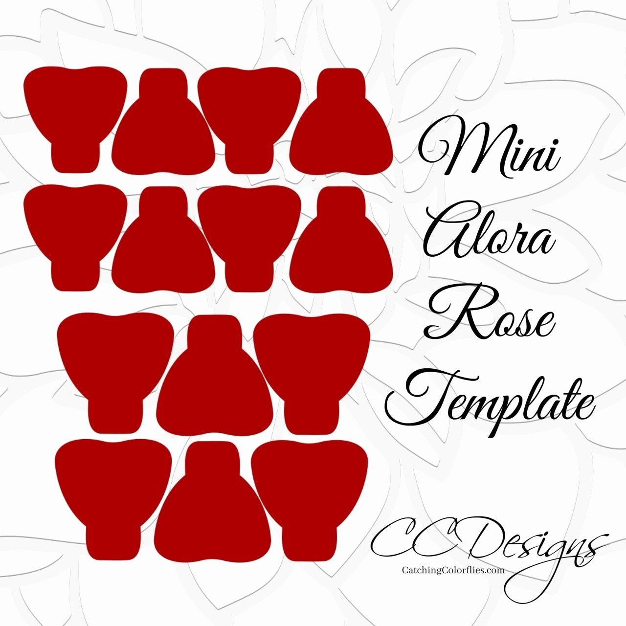 Small Paper Flower Templates Lovely Mini Alora Rose Small Paper Flower Rose Template
