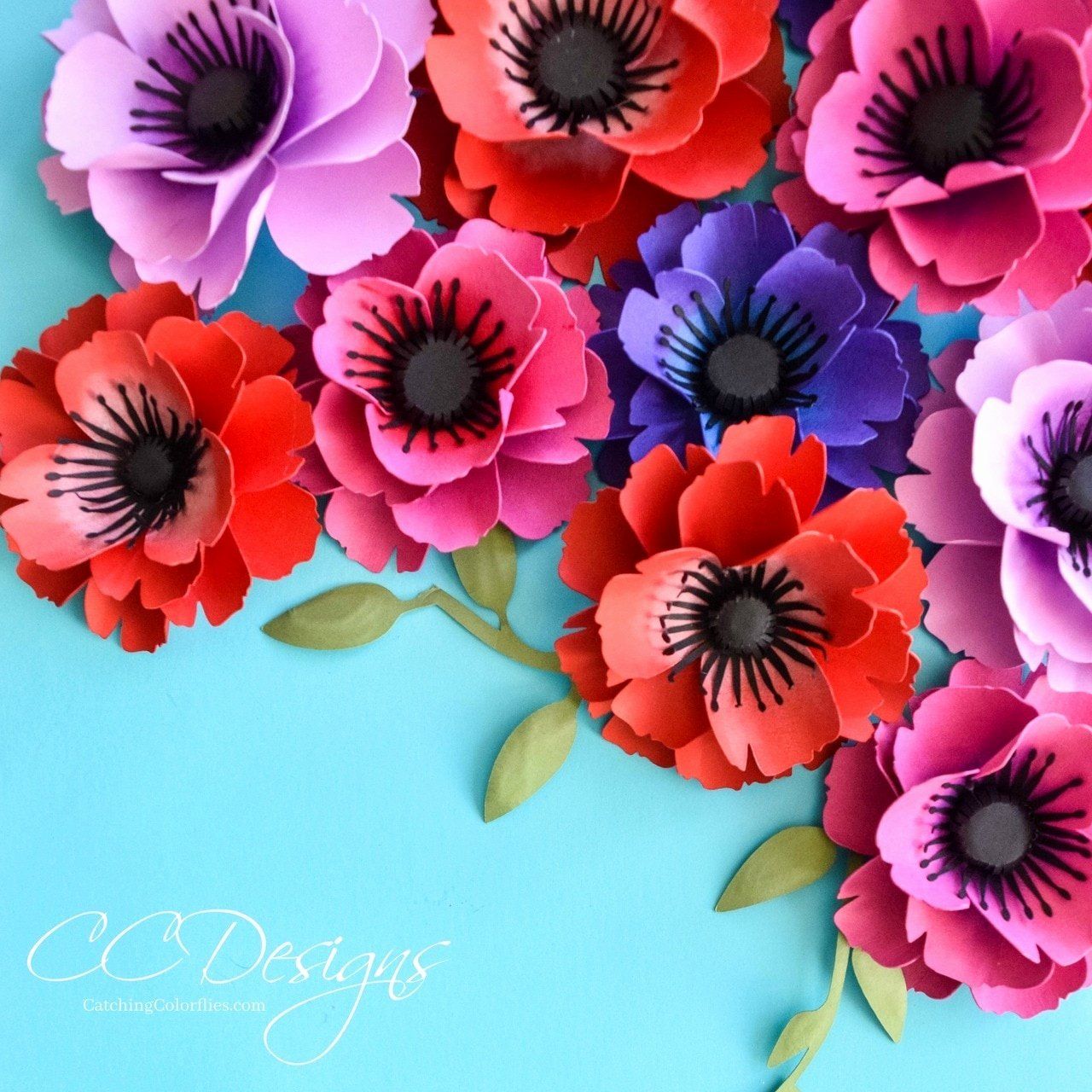 Small Paper Flower Templates Luxury Small Poppy Paper Flower Template Catching Colorflies