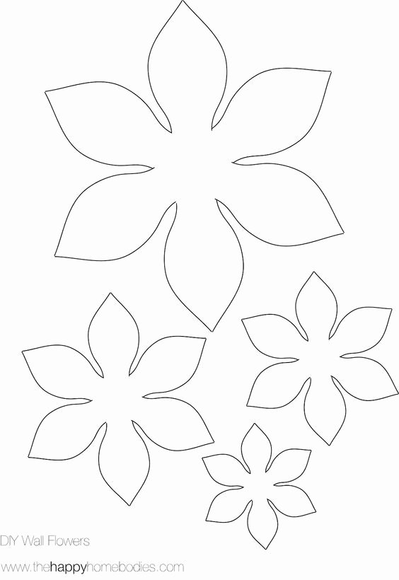 Small Paper Flower Templates New 25 Best Ideas About Flower Template On Pinterest