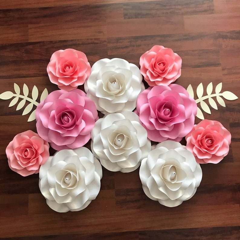 Small Paper Flower Templates New Svg Bo Of Small and Mini Rose Paper Flower Template Diy