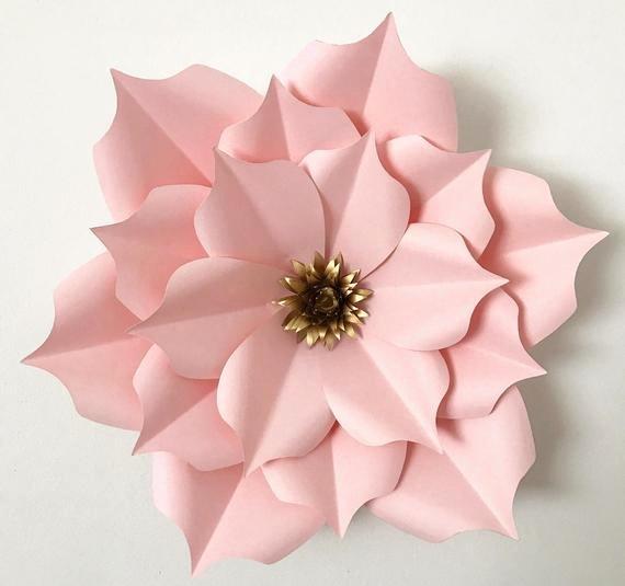 Small Paper Flower Templates Unique Pdf Petal 5 Paper Flower Template Digital Version original