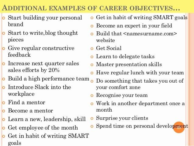 Smart Career Goals Examples Best Of top 10 Career Goals Examples