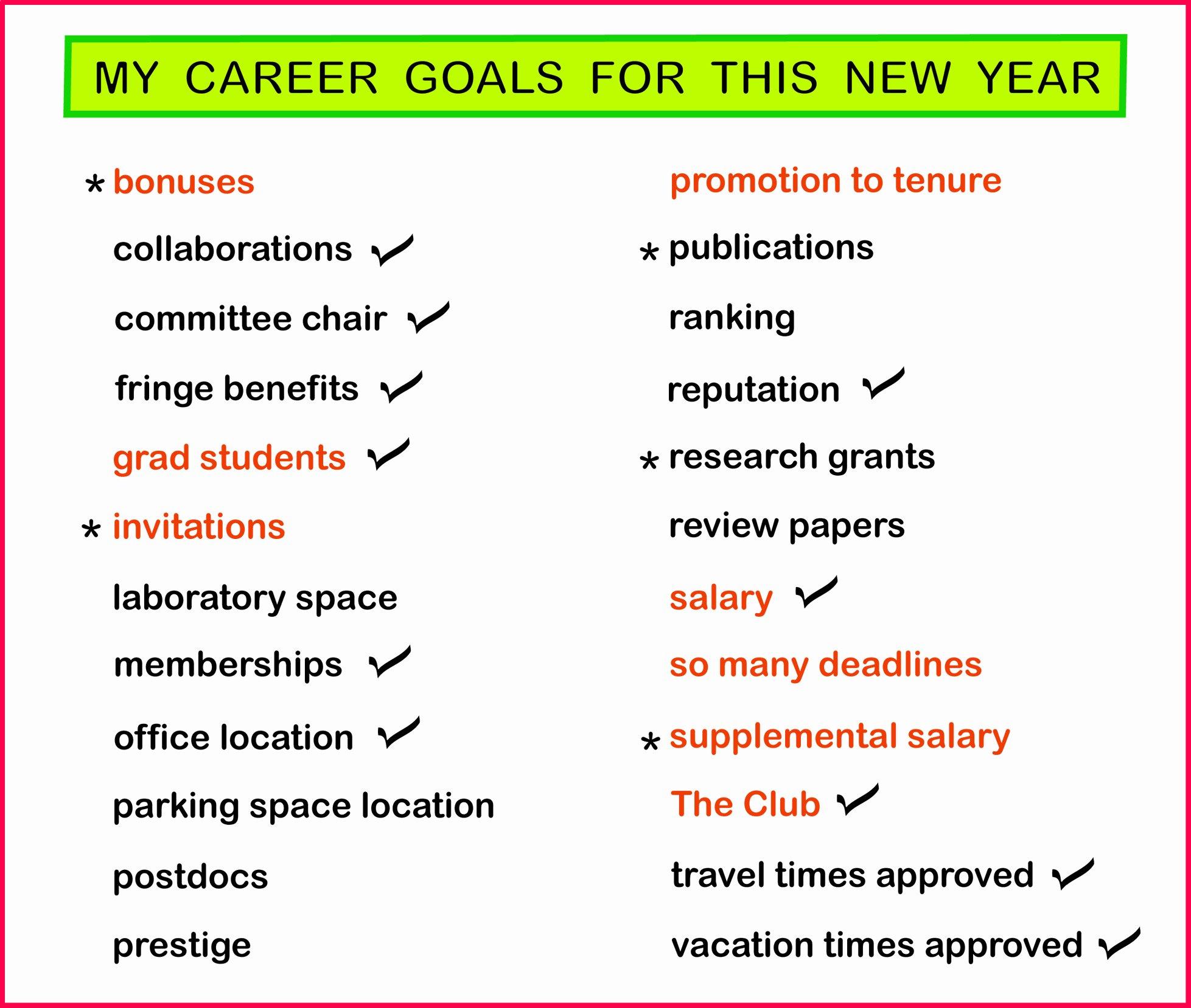 Smart Career Goals Examples Inspirational My Career Goals