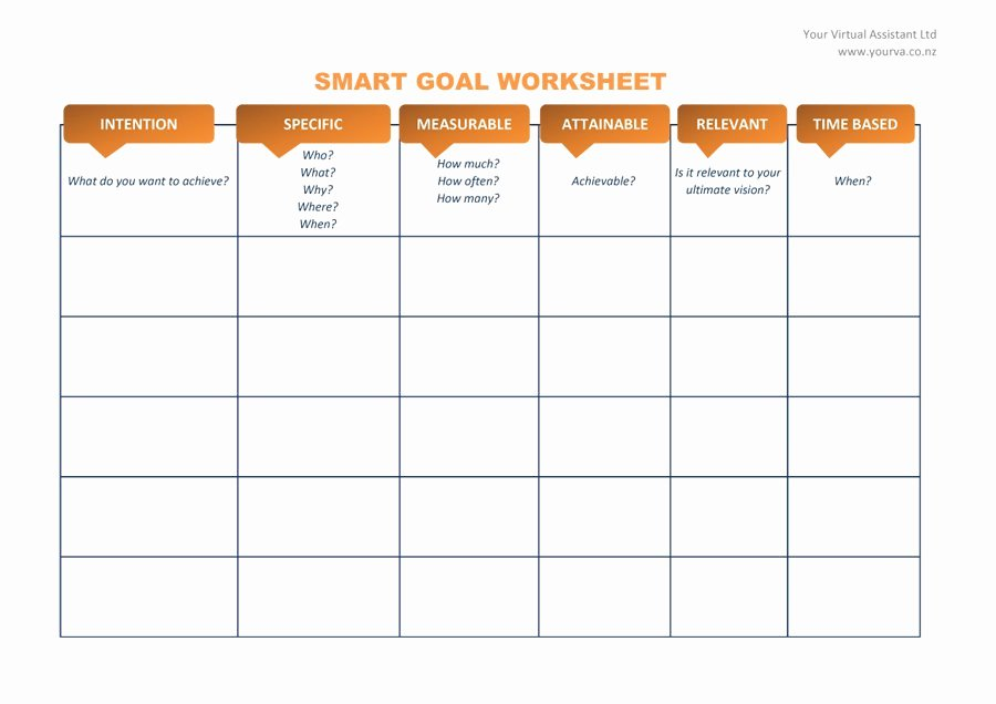 Smart Goal Template Awesome 48 Smart Goals Templates Examples & Worksheets Template Lab