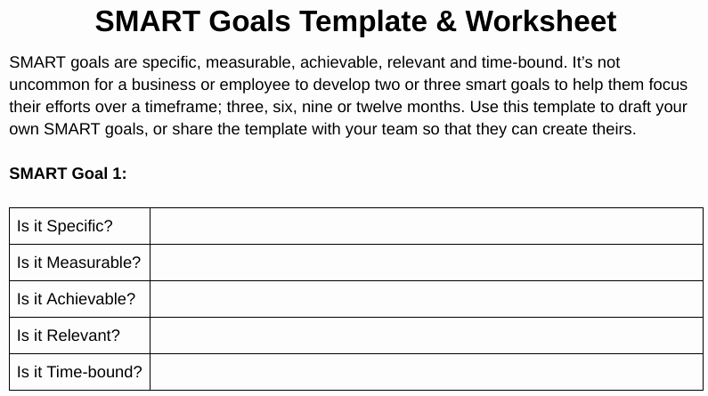 Smart Goal Template Inspirational 20 Best Smart Goals Examples for Small Businesses In 2018