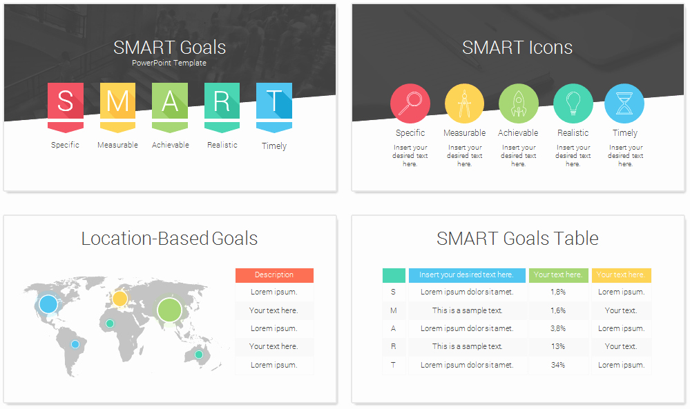 Smart Goal Template Lovely Smart Goals Powerpoint Template Presentationdeck