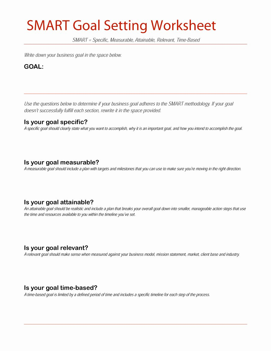 Smart Goal Template Unique 48 Smart Goals Templates Examples & Worksheets Free